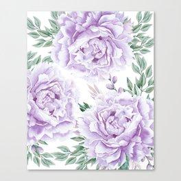 Pretty Purple Flower Garden Canvas Print