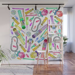 Neon 80's 90's Retro Funny Candy Pattern Wall Mural