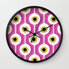 Eye Pod Pink Wall Clock