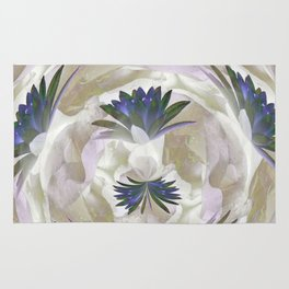 Lilies in the Round Rug