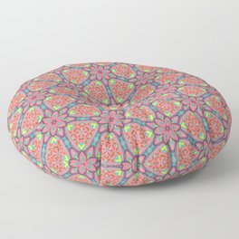 Origami Flowers, surface pattern Floor Pillow