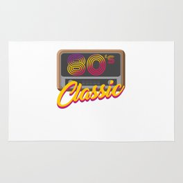 80's Classic Year Music Retro Fashion Trends Clothes Gift Rug