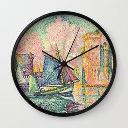 """Paul Signac """"Le Thonier Entrant à La Rochelle"""" Wall Clock"""