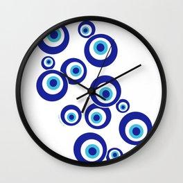 Mod Evil Eyes Wall Clock