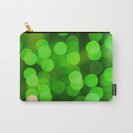 glowing confetti in green Carry-All Pouch