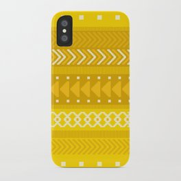 Indomitable - tribal geometrics iPhone Case