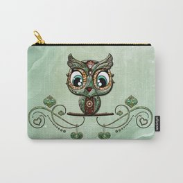 Cute little owl, green diamond Carry-All Pouch