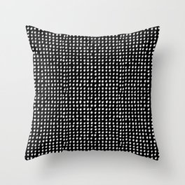 Dots (Shadowed) - White x Grey Throw Pillow