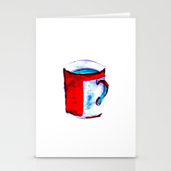 big coffee cup Stationery Cards