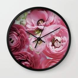 Bloom Sweetly - Rose Pink Wall Clock