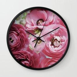 Bloom Sweetly - Rose Pink Wall Clock