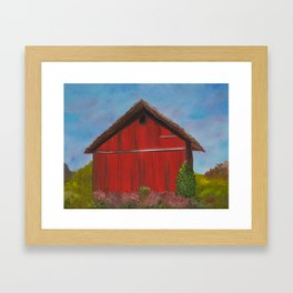Shelter for the herd Framed Art Print