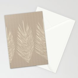 Naturals Cream Linen Palm Leaves Stationery Cards