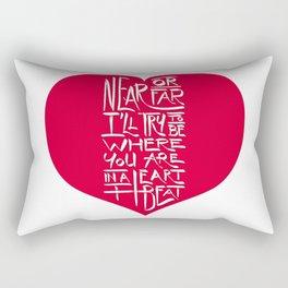 In a Heartbeat Rectangular Pillow