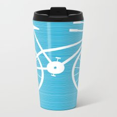 Blue Bike by Friztin Metal Travel Mug