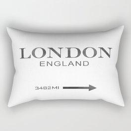 watercolor London England Rectangular Pillow