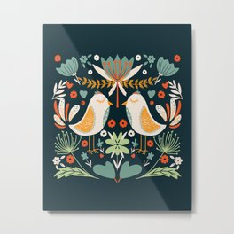 Birds pattern Metal Print