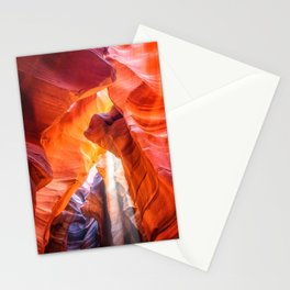 Ghostly light beam at Antelope Canyon Stationery Cards