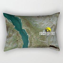 Face To Face - Ape & Man Rectangular Pillow