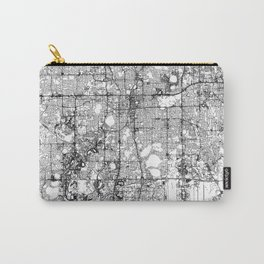 Orlando White Map Carry-All Pouch