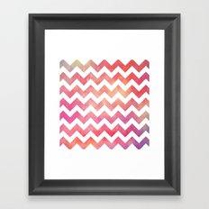 Watercolor Chevron. Framed Art Print