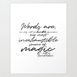 Words Are Magic (Light) Art Print