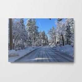 Snowy Idyllwild Metal Print