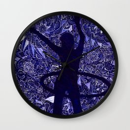Hoop Dreams (Hula Hooper and Mandalas) Wall Clock