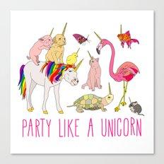 Party Like A Unicorn Canvas Print