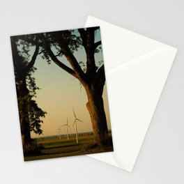 Sunset Turbines in Nature Stationery Cards