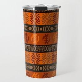 Ethnic african tribal pattern with Adinkra simbols. Travel Mug