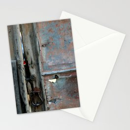 Rusty metal gate Stationery Cards