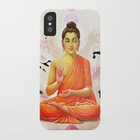 buddha iPhone & iPod Cases featuring Buddha by O. Be