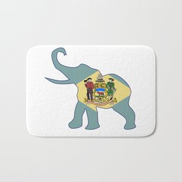 Delaware Republican Elephant Flag Bath Mat