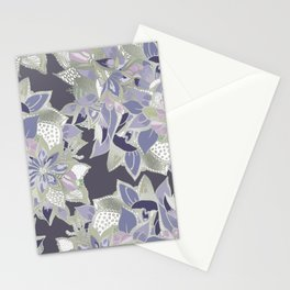 Mauve gray lavender silver watercolor floral Stationery Cards