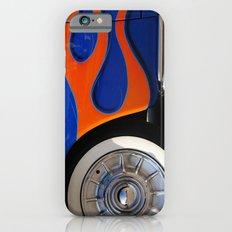 Chrome hubcaps, orange flames iPhone 6s Slim Case