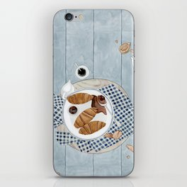 Croissants With Cherry Jam iPhone Skin