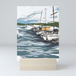 Sausalito Marina Mini Art Print