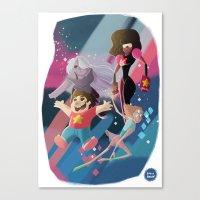 steven universe Canvas Prints featuring Steven Universe by David Pavon