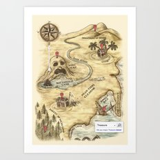 Did You Mean Treasure Island? Art Print