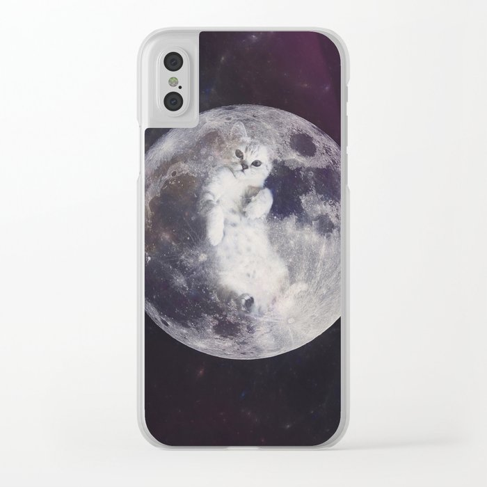 There Are Kitties On The Moon, Houston Clear iPhone Case