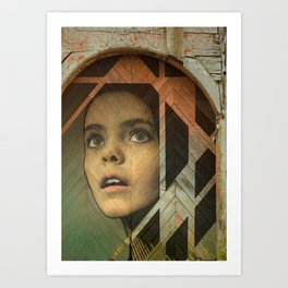 Girl Around Town Art Print