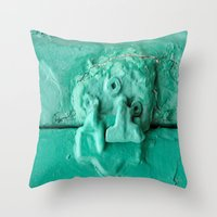 platypus Throw Pillows featuring Platypus Face  by Ethna Gillespie