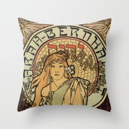 The Samaritan by Alphonse Mucha Throw Pillow