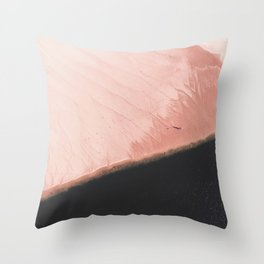Pink Sands Throw Pillow
