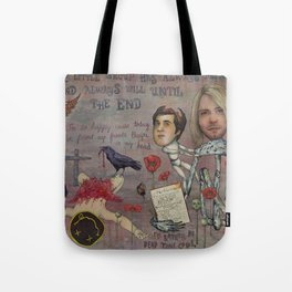 Nirvana - Light My Candles In A Daze Cause My Heart Shaped Box Is Broke Tote Bag