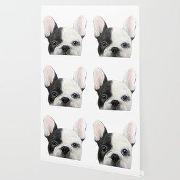 French Bulldog Dog illustration original painting print Wallpaper