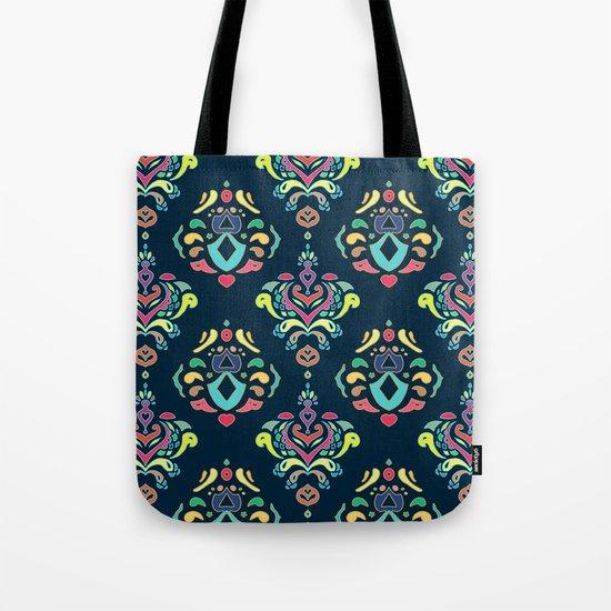Doodle Damask  Tote Bag