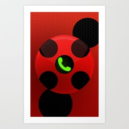 Ladybug Compact Communicator Art Print