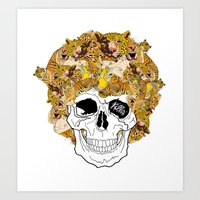 afro Art Prints featuring Afro by dogooder
